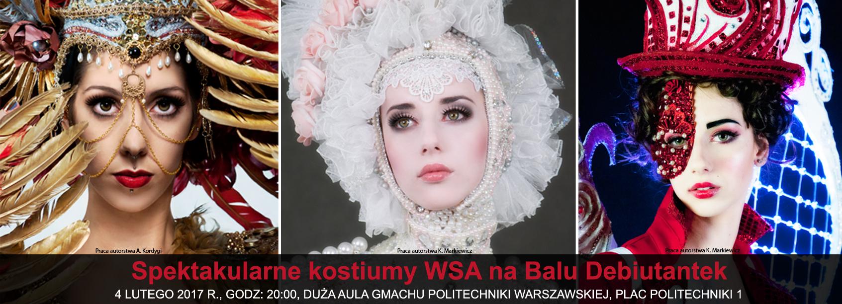 wyzsza szkola artystyczna, bal debiutantek, pokaz, kostium i rekwizyt sceniczny, politechnika warszawska