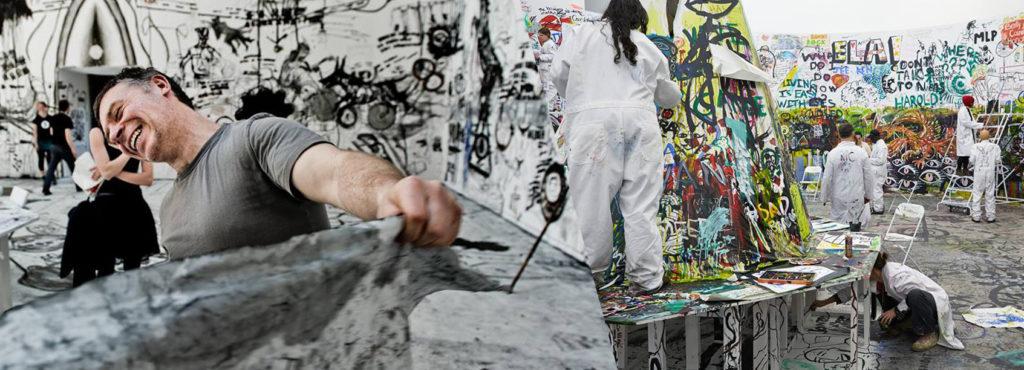 kongres rysowników, malarstwo, węgiel, kolaż, farby, paweł althamer, scenografia, wyższa szkoła artystyczna