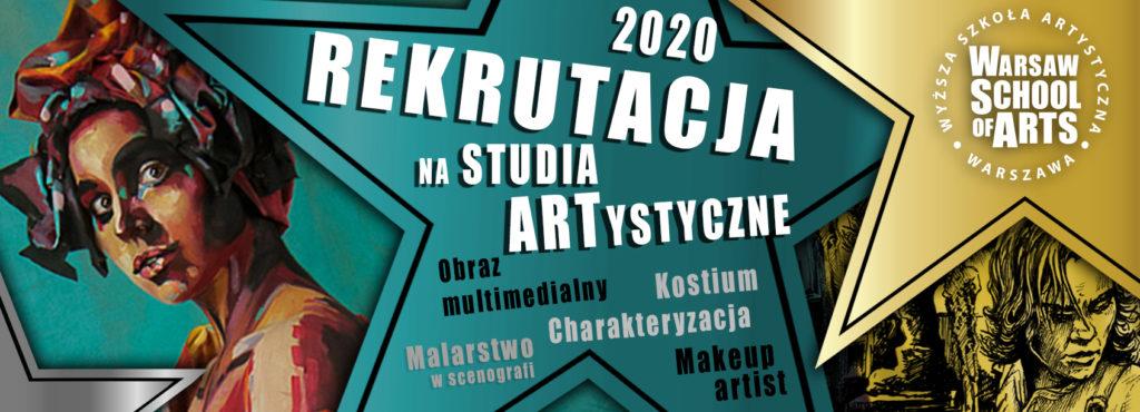 Wyższa Szkołą Artystyczna w Warszawie - Rekrutacja 2020